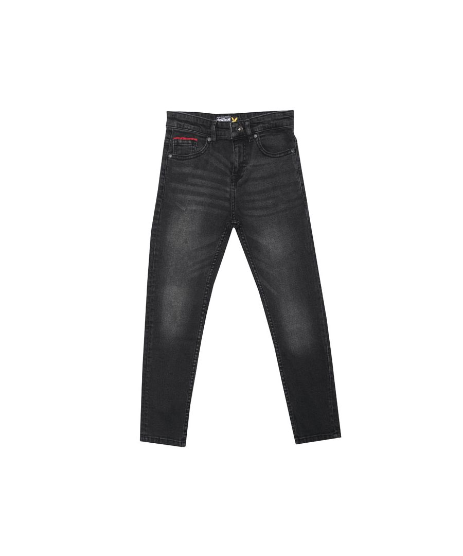 Image for Boy's Lyle And Scott Infant Skinny Fit Jeans in Denim