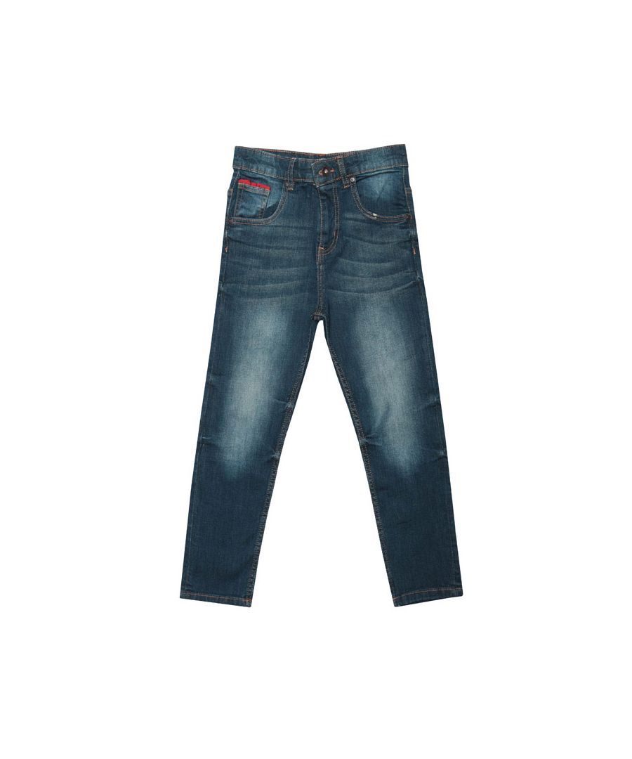 Image for Boy's Lyle And Scott Junior Carrot Fit Jeans in Denim