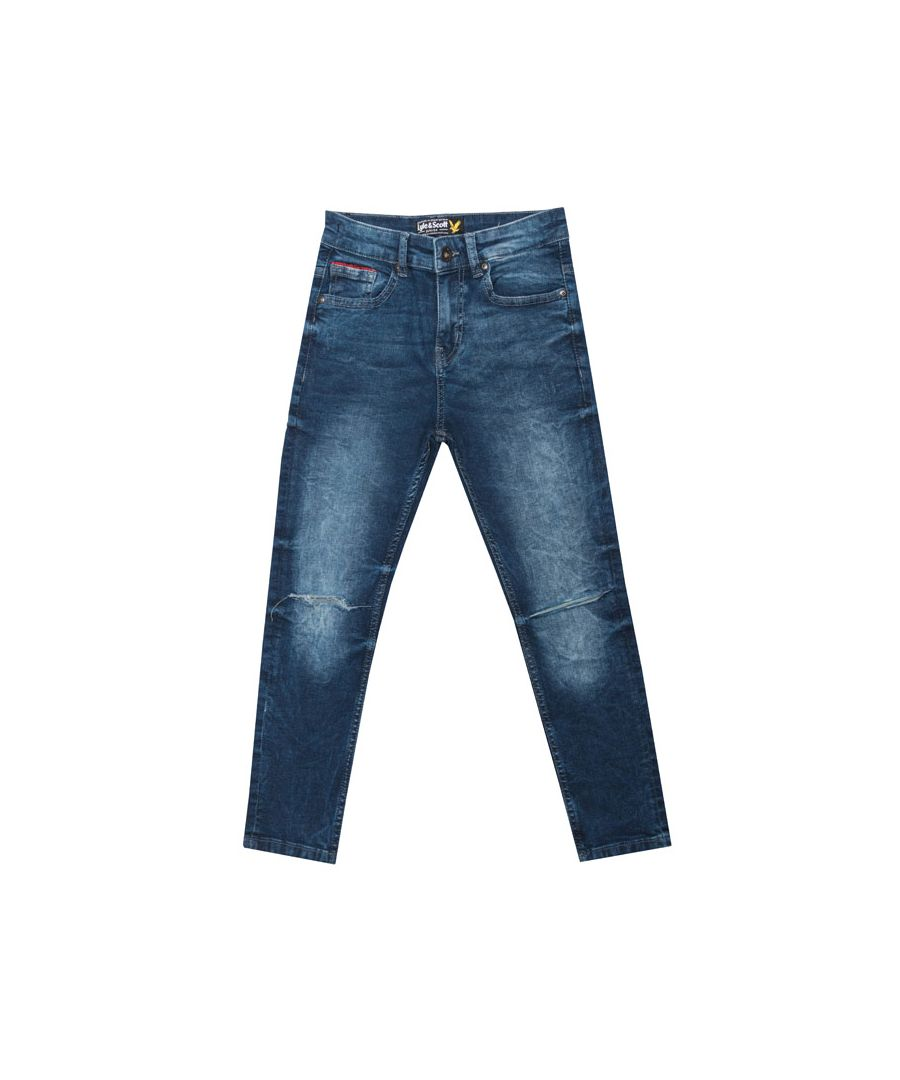 Image for Boy's Lyle And Scott Junior Skinny Fit Acid Jeans in Denim