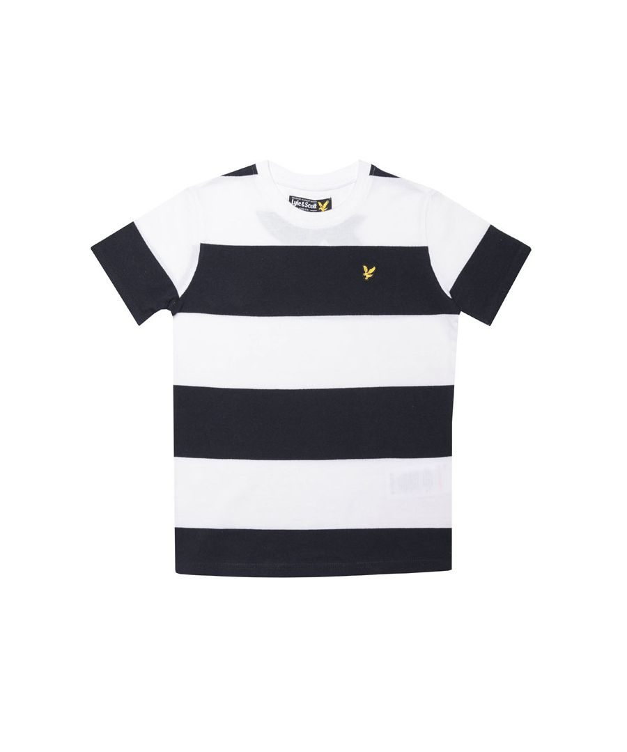 Image for Boy's Lyle And Scott Junior Wide Stripe T-Shirt in White