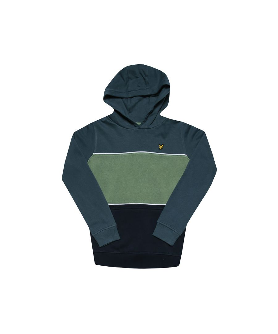Image for Boys' Lyle And Scott Junior Wide Stripe Hoodie in Green