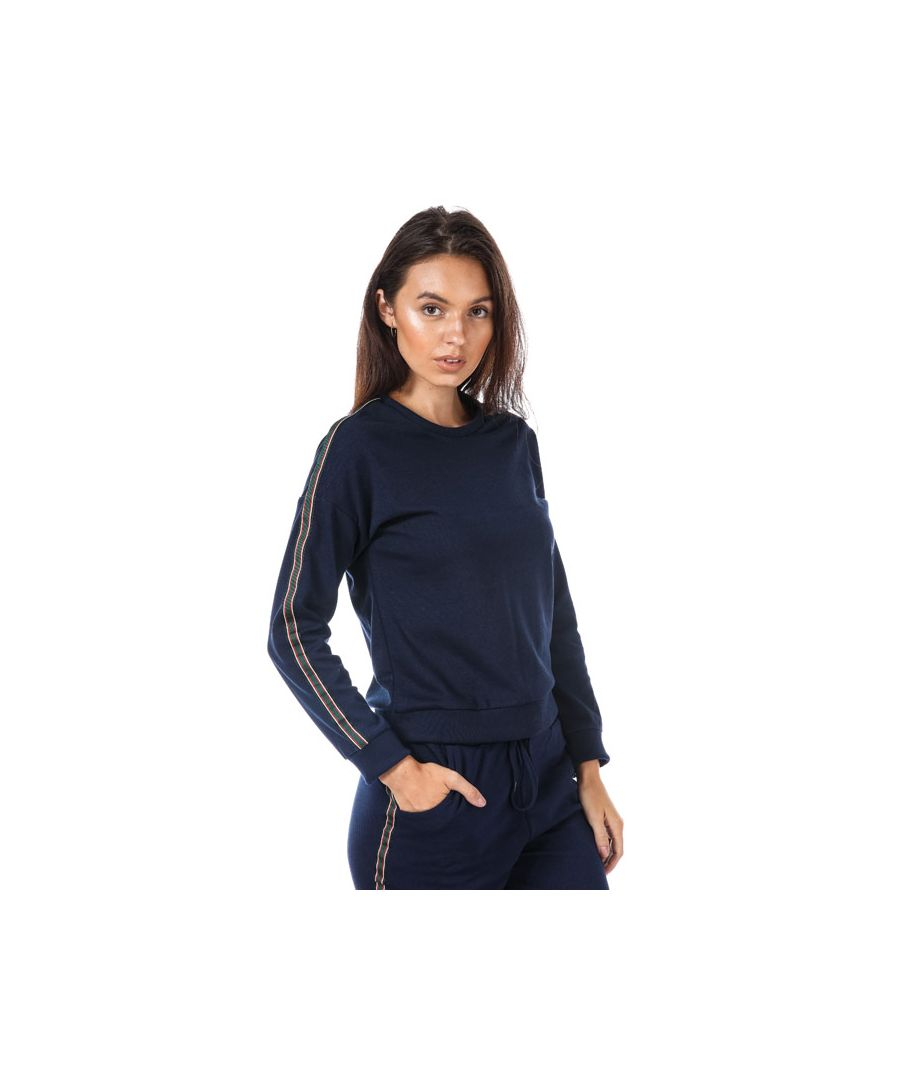Image for Women's Brave Soul Sweatshirt With Side Stripe in Indigo
