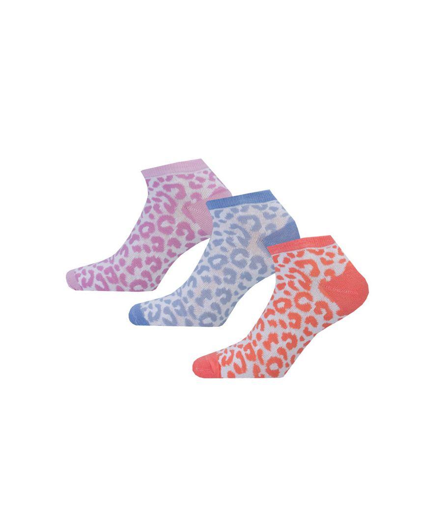 Image for Women's Brave Soul 3 Pk Leopard Socks Multi colour One Sizein Multi colour