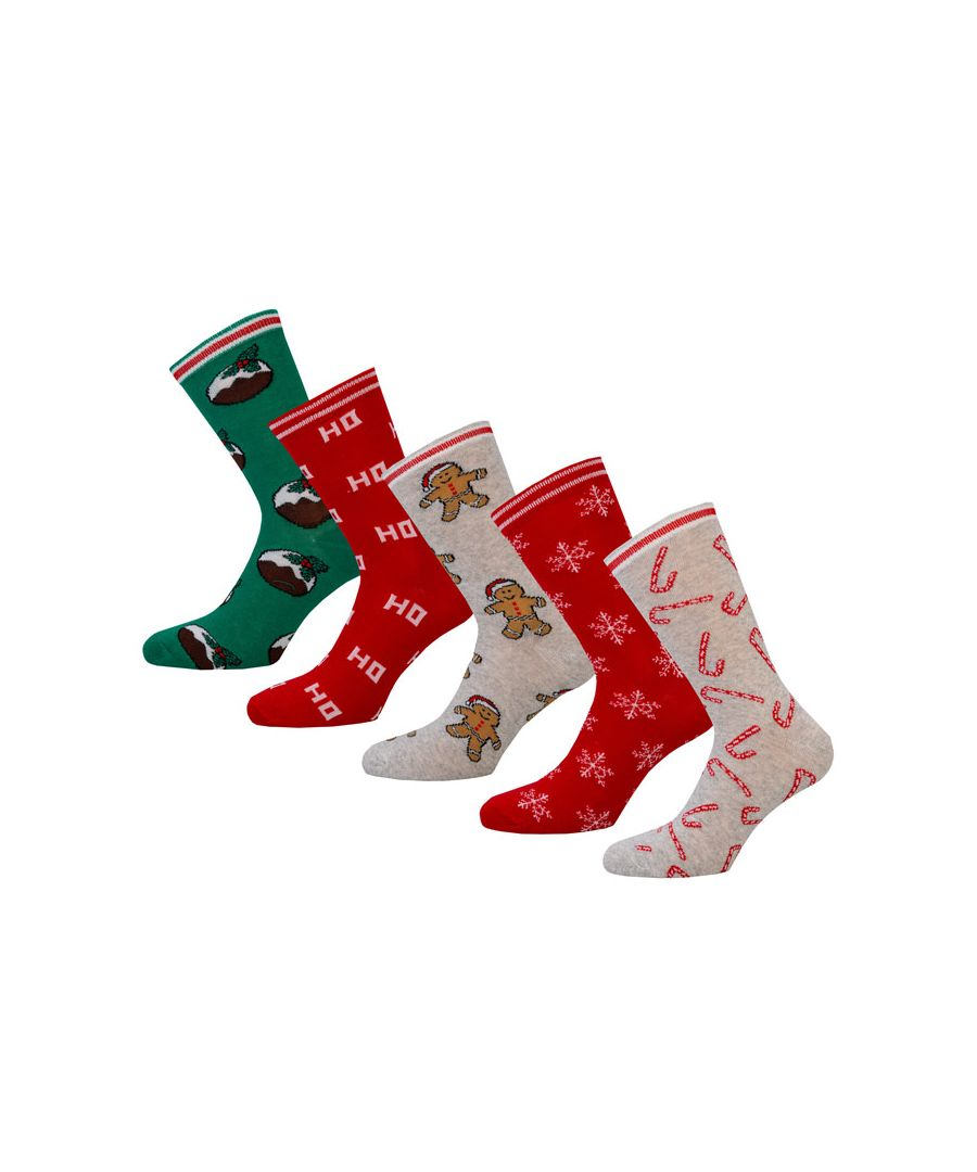 Image for Women's Brave Soul 5 Pack Christmas Socks in Multi colour