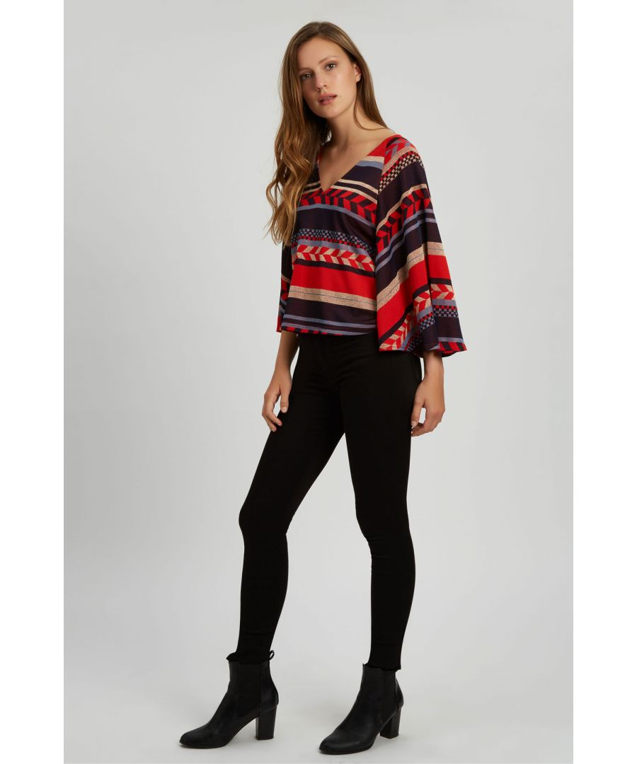 Image for Vanquish Geometric Top in Red
