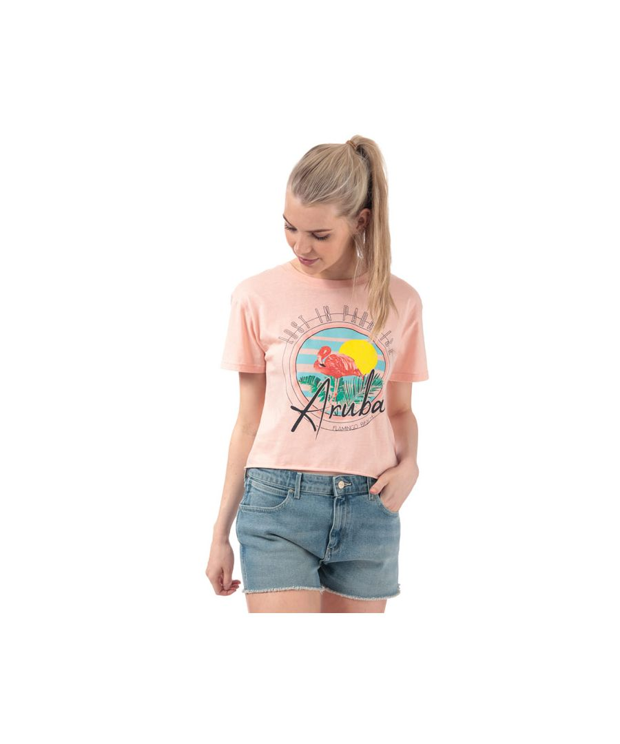 Image for Women's Brave Soul Flamingo T-Shirt in Pink