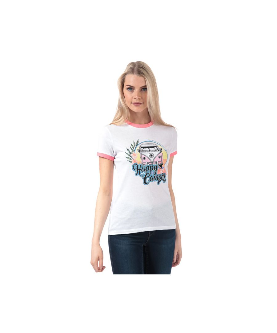 Image for Women's Brave Soul Campervan T-Shirt in White