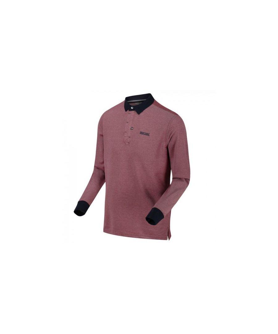 Image for Regatta Mens Panos Long Sleeve Polo Neck Shirt