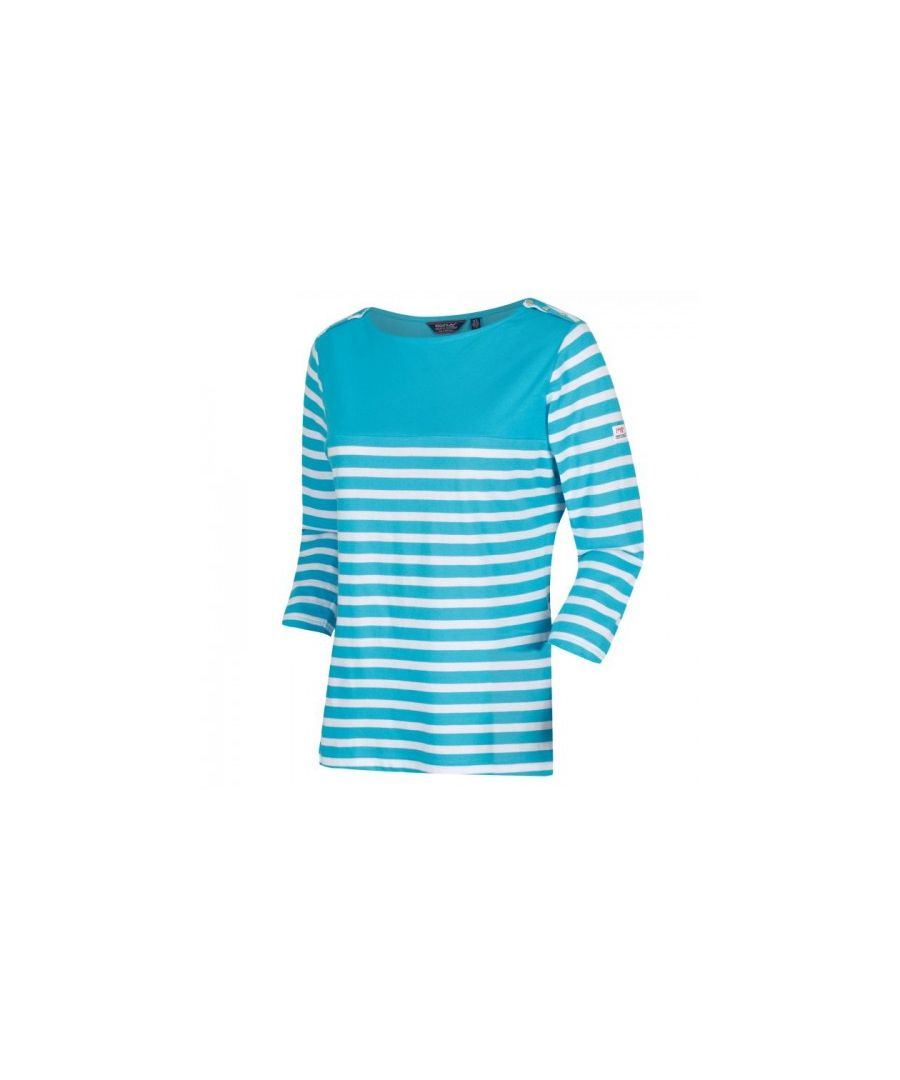Image for Regatta Womens/Ladies Pandara Long Sleeve Stripe T-Shirt