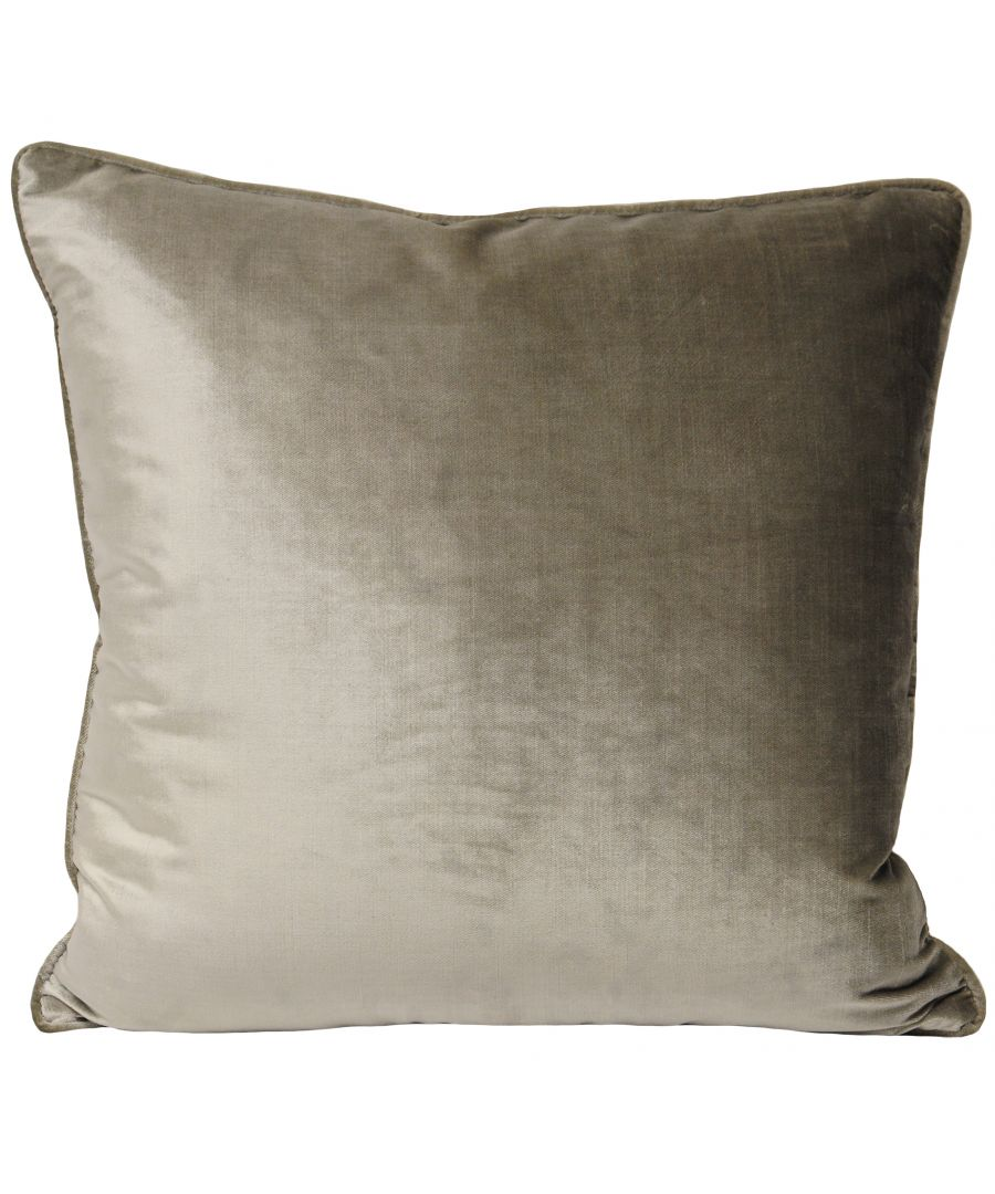 Image for Luxe Velvet 55X55 Poly Cushion Mink