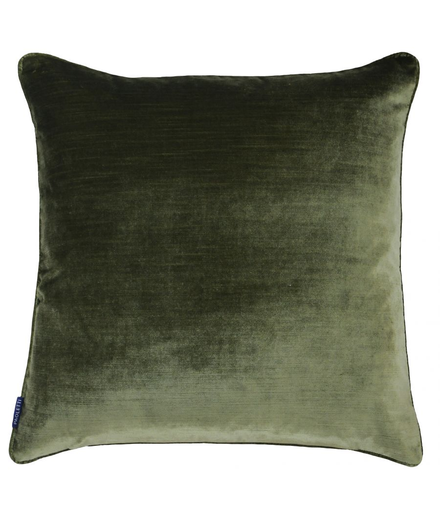 Image for Luxe Velvet 55X55 Poly Cushion Oliv