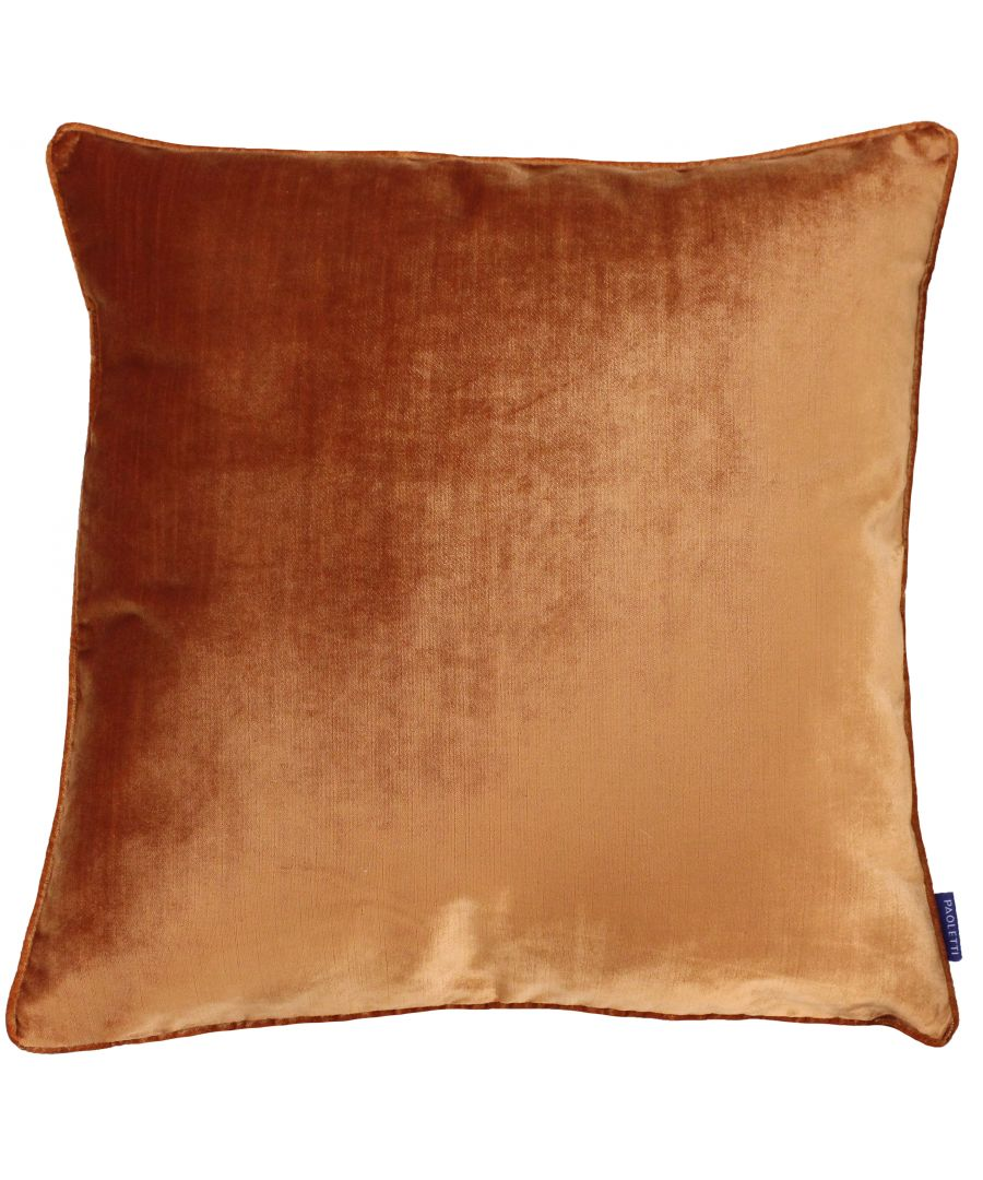 Image for Luxe Velvet 55X55 Poly Cushion Rust
