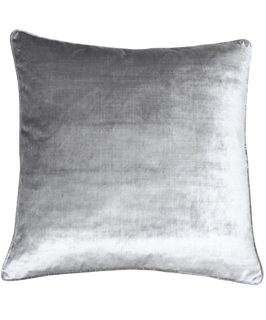 Image for Luxe Velvet 55X55 Poly Cushion Silv