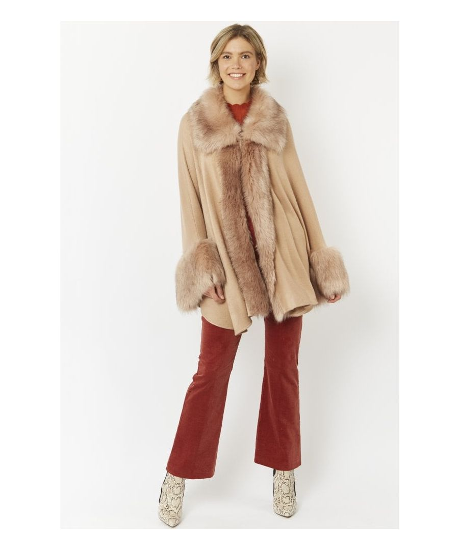 Image for Luxury Faux Fur Fine Knitted Coat
