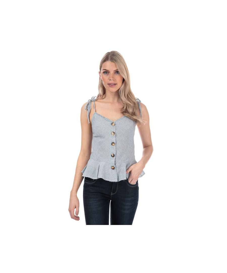 Image for Women's Brave Soul Button Through Cami Top in Blue