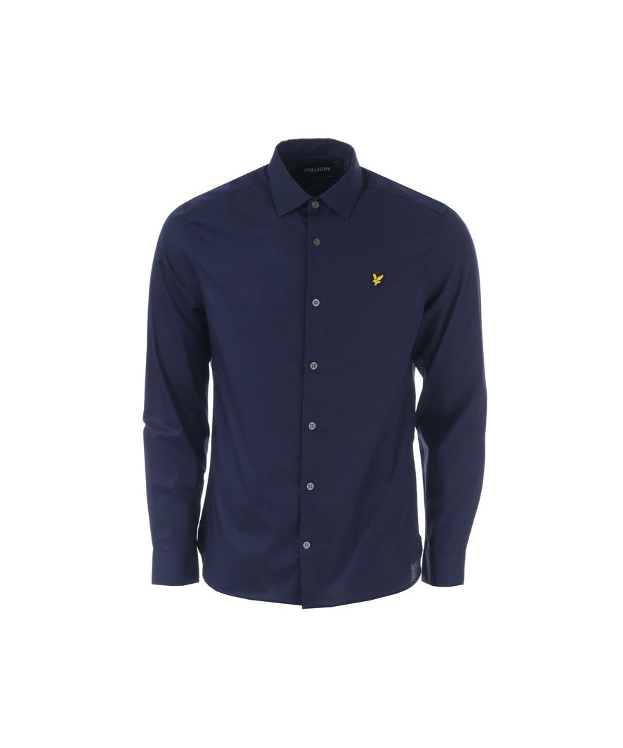Image for Men's Lyle And Scott LS Slim Fit Poplin Shirt in Navy