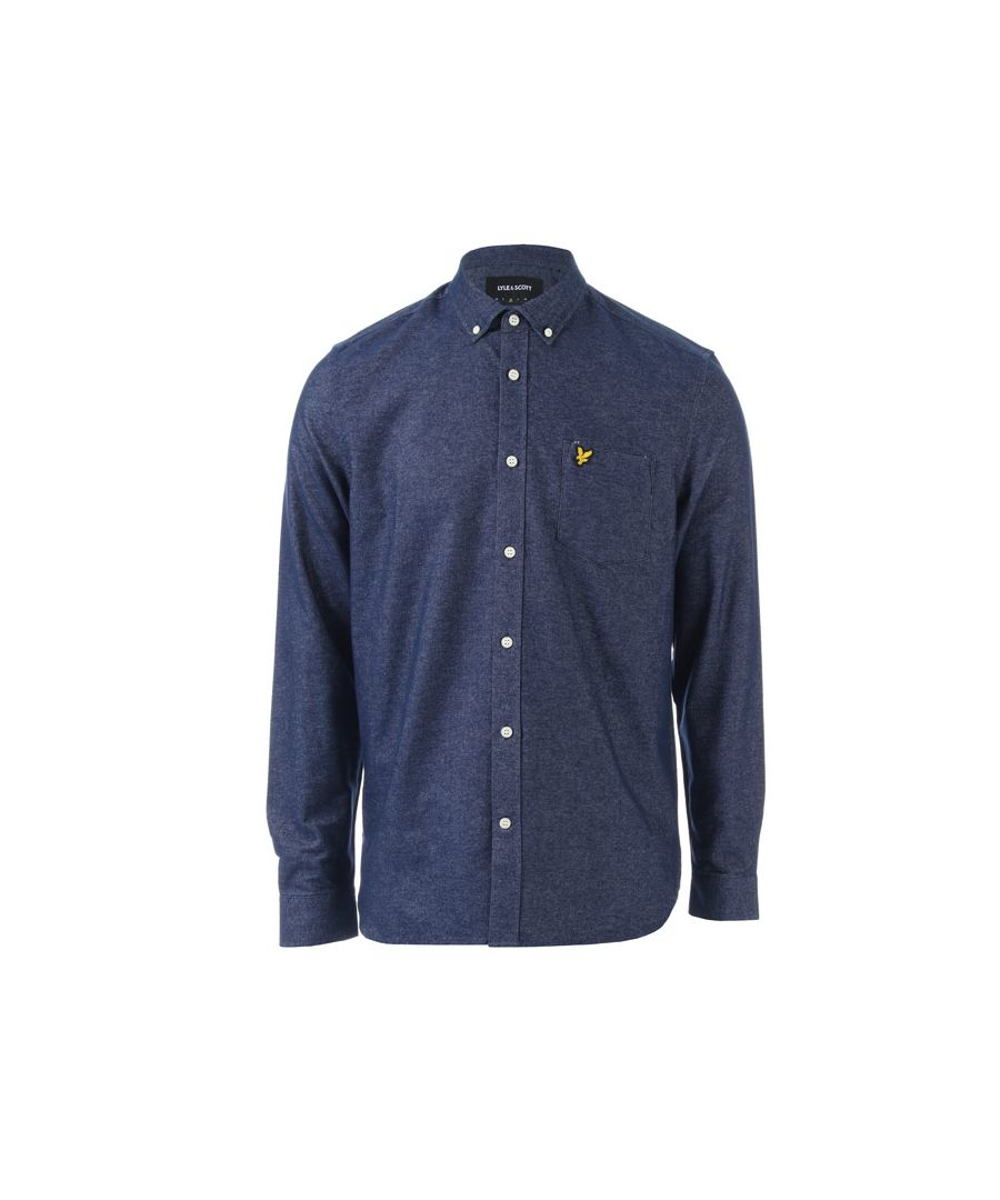 Image for Men's Lyle And Scott Brushed Twill Shirt in Navy