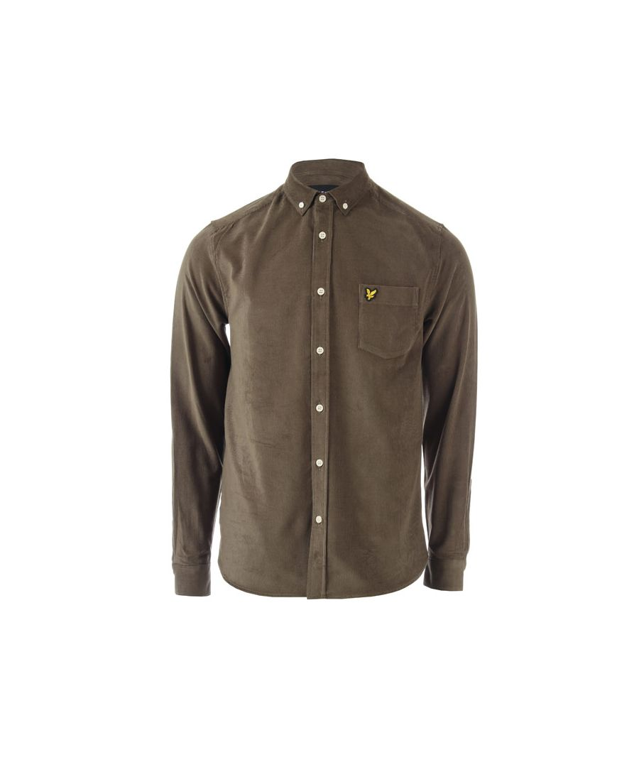 Image for Men's Lyle And Scott Baby Cord Shirt in Green