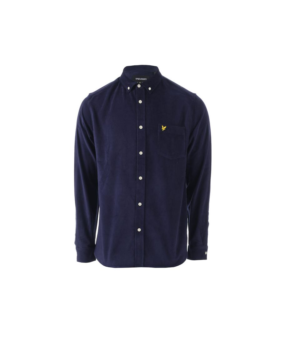 Image for Men's Lyle And Scott Baby Cord Shirt in Navy