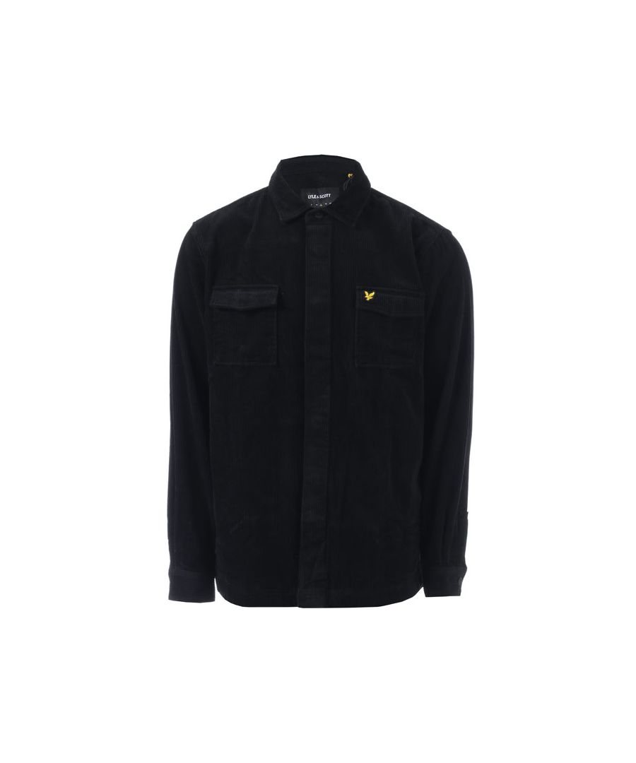 Image for Men's Lyle And Scott Cord Overshirt in Black