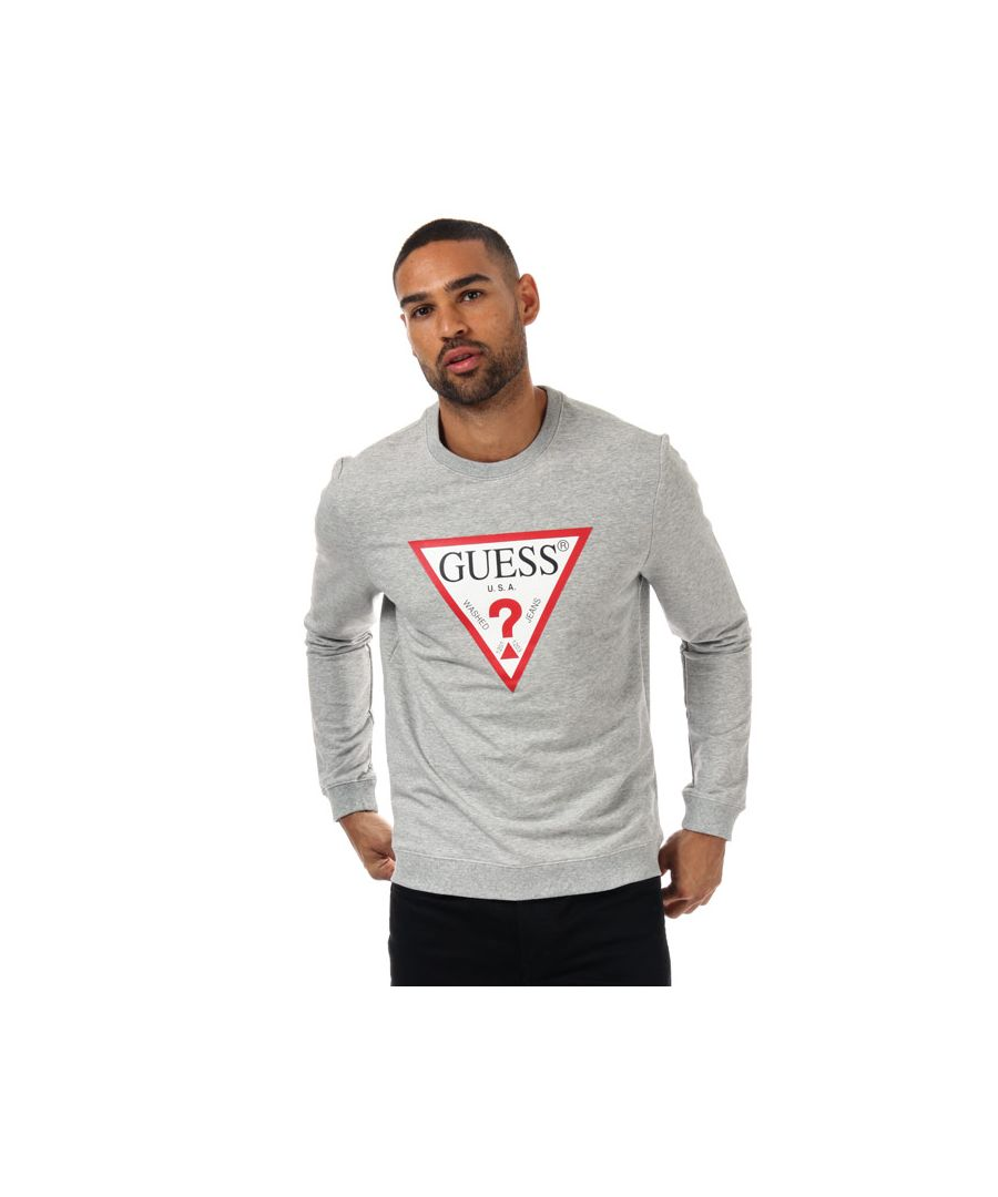 Image for Men's Guess Audley Clear Stretch Crew Sweat in Grey