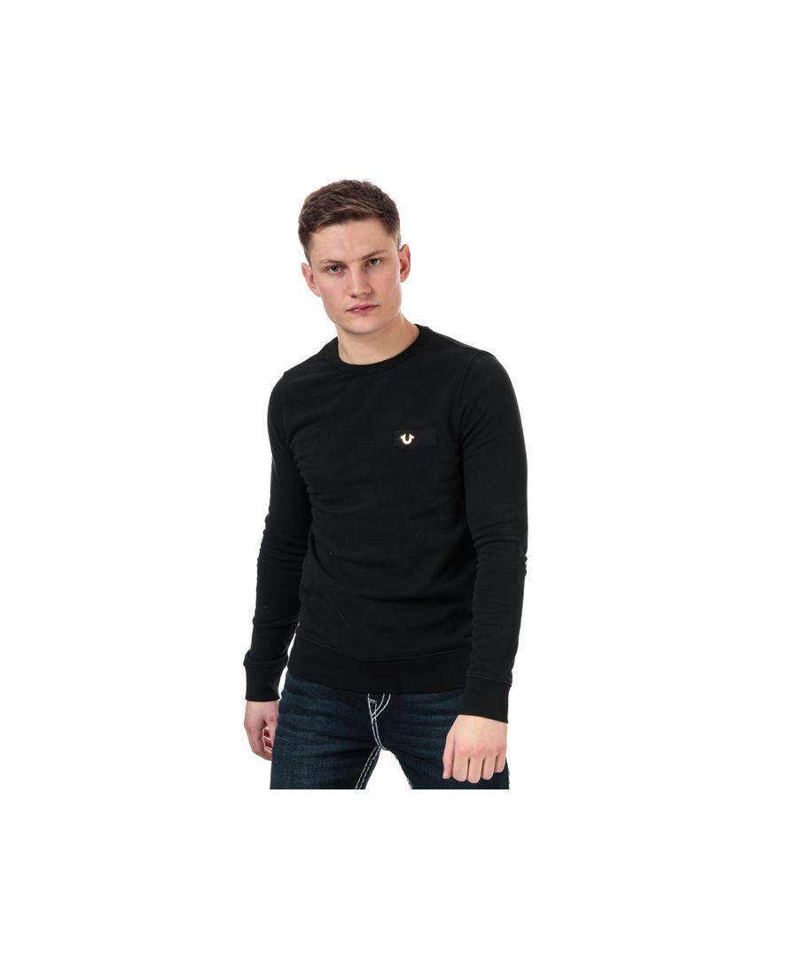 Image for Men's True Religion Metal Horseshoe Sweatshirt in Grey