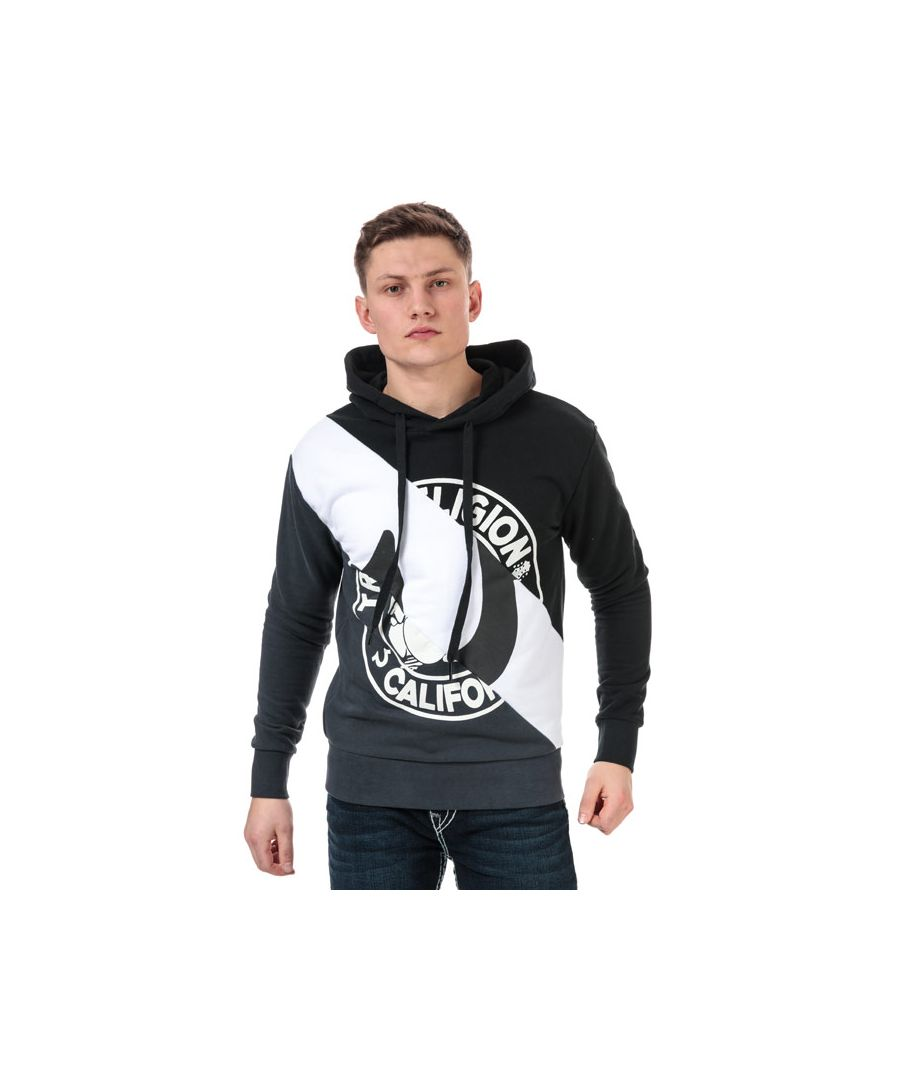 Image for Men's True Religion Diagonal Pullover Hoody in Black