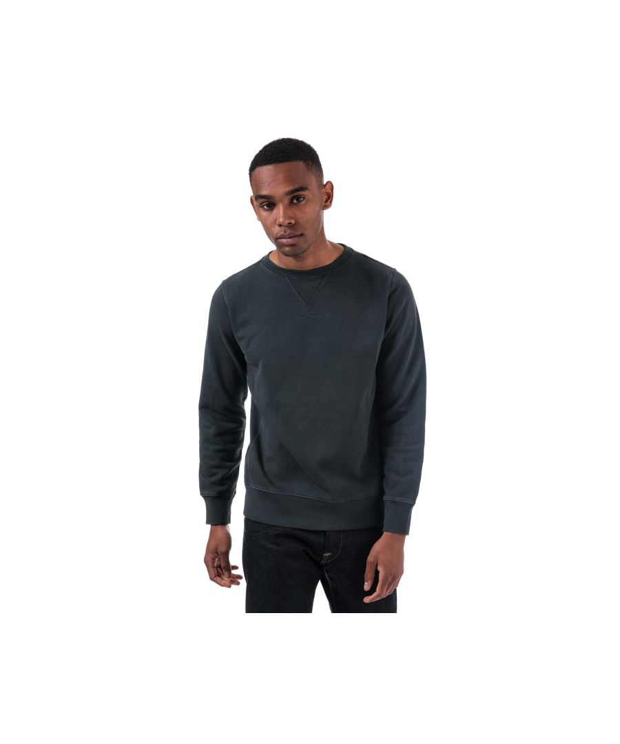 Image for Men's Replay Compact Cotton Sweatshirt in Navy