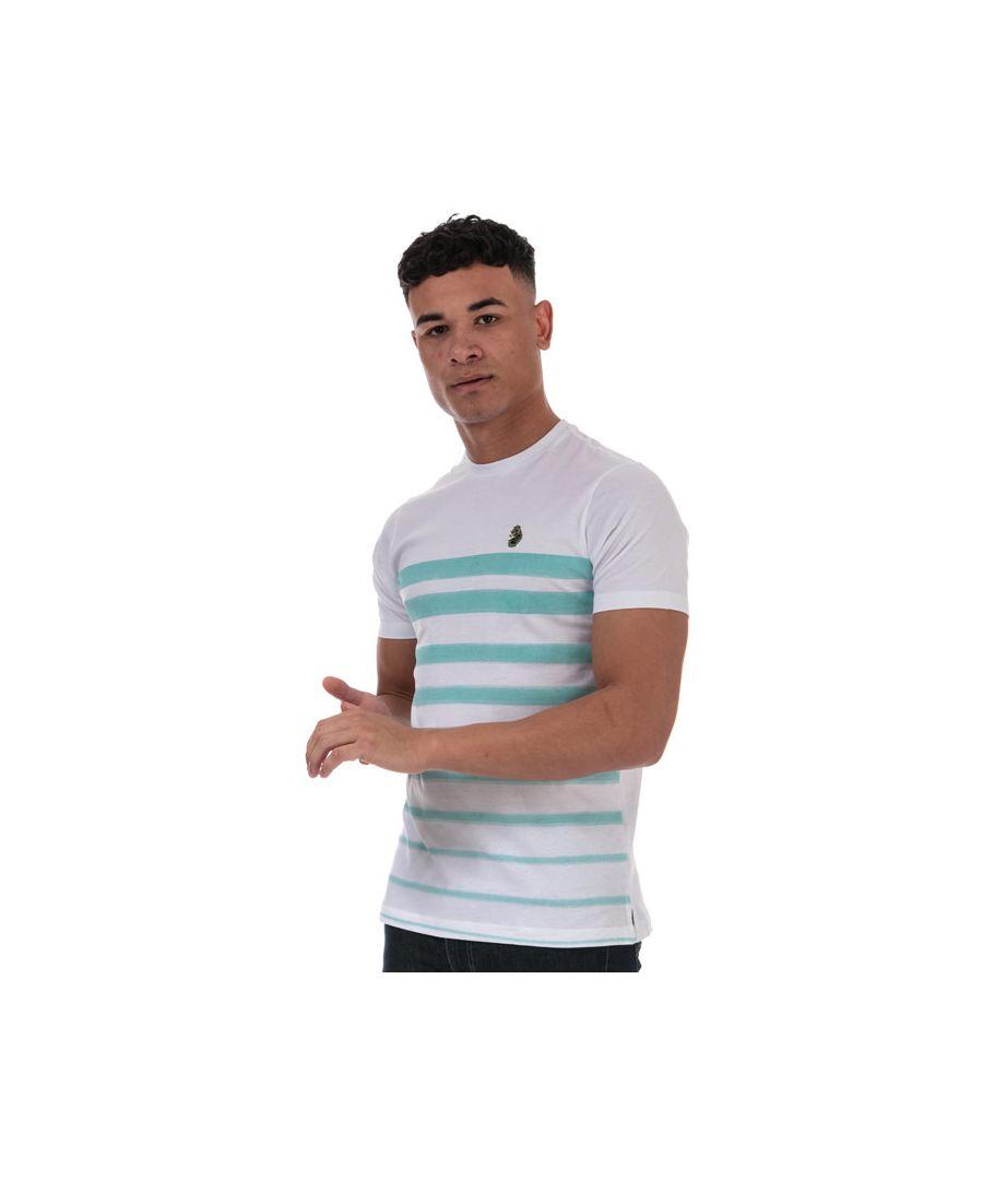 Image for Men's Luke 1977 Option 1 Fade Striped T-Shirt in White blue