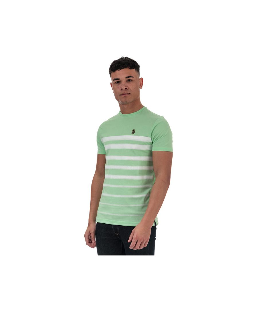 Image for Men's Luke 1977 Option 1 Fade Striped T-Shirt in Mint