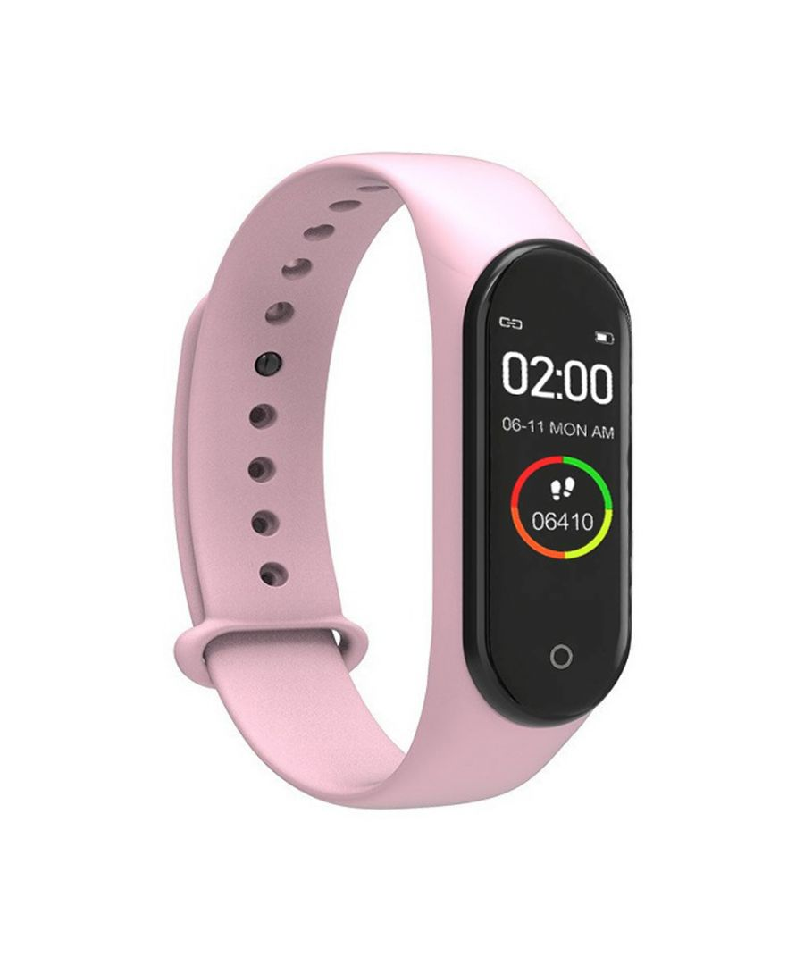 Image for Lkstech® Smart Activity Bracelet M4 With Ips Color Screen, Ip67 Multi-function, Light Pink
