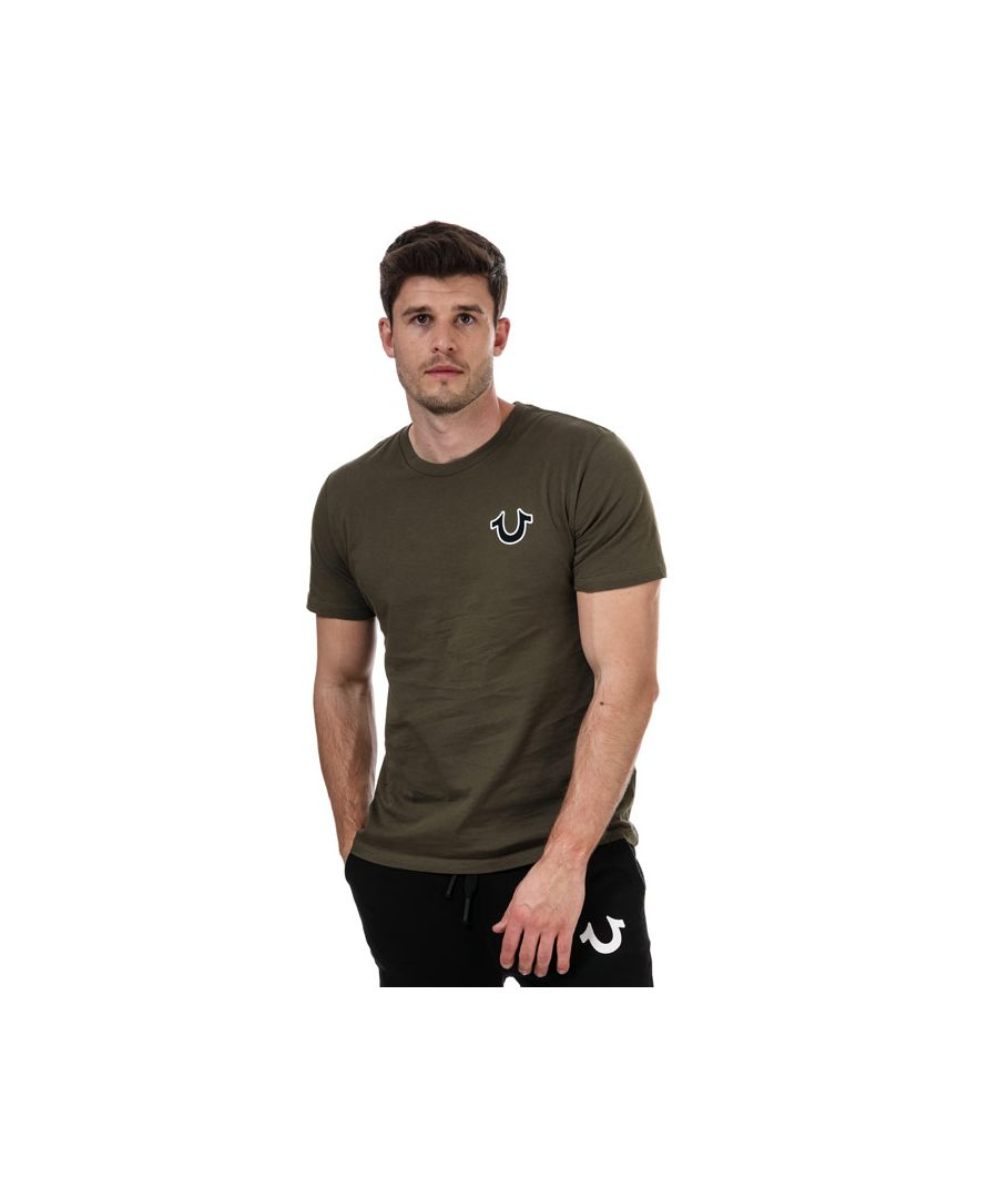 Image for Men's True Religion Buddha Logo T-Shirt in Green