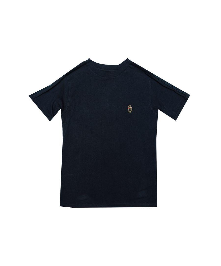Image for Boys' Luke 1977 Junior Trouser Tape T-Shirt in Navy