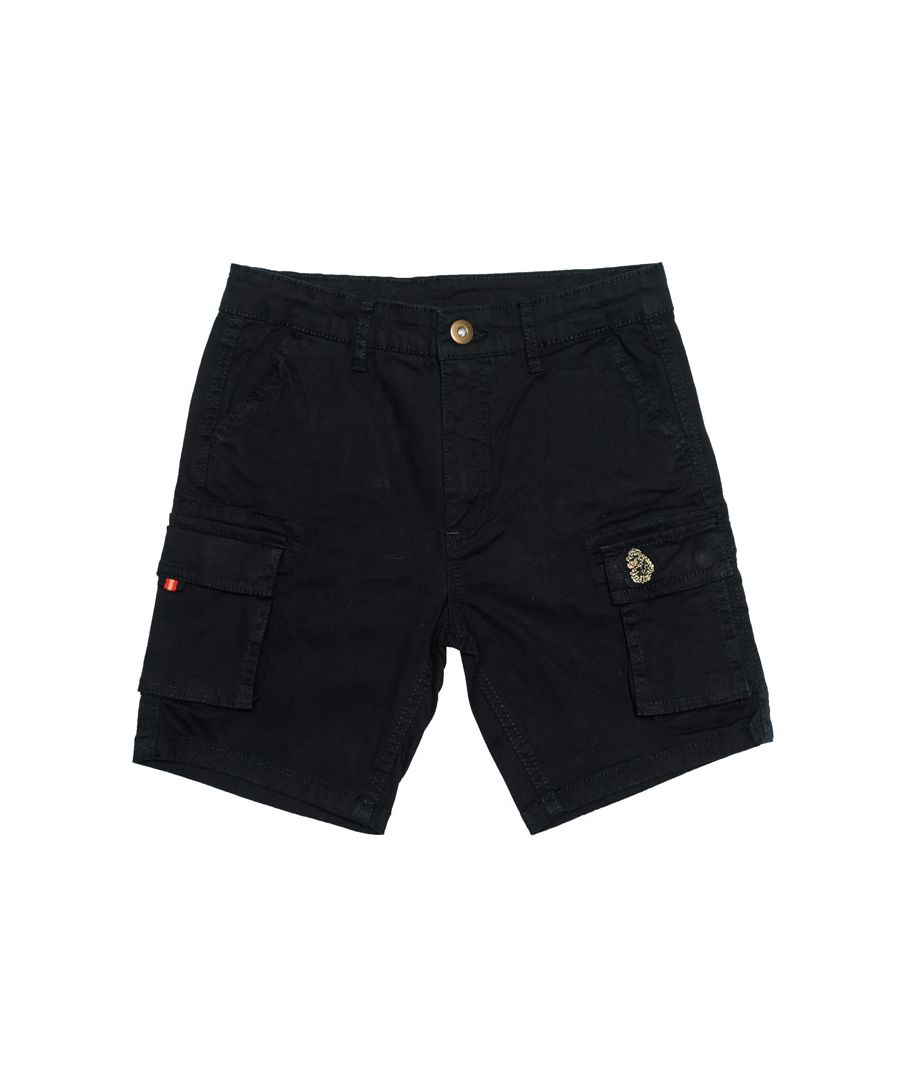 Image for Boy's Luke 1977 Junior Club Future Cargo Shorts in Navy