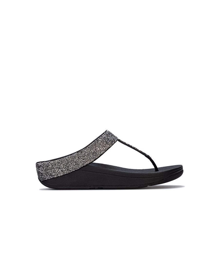 Image for Women's Fit Flop Fino Quartz Toe Thong Sandals in Black