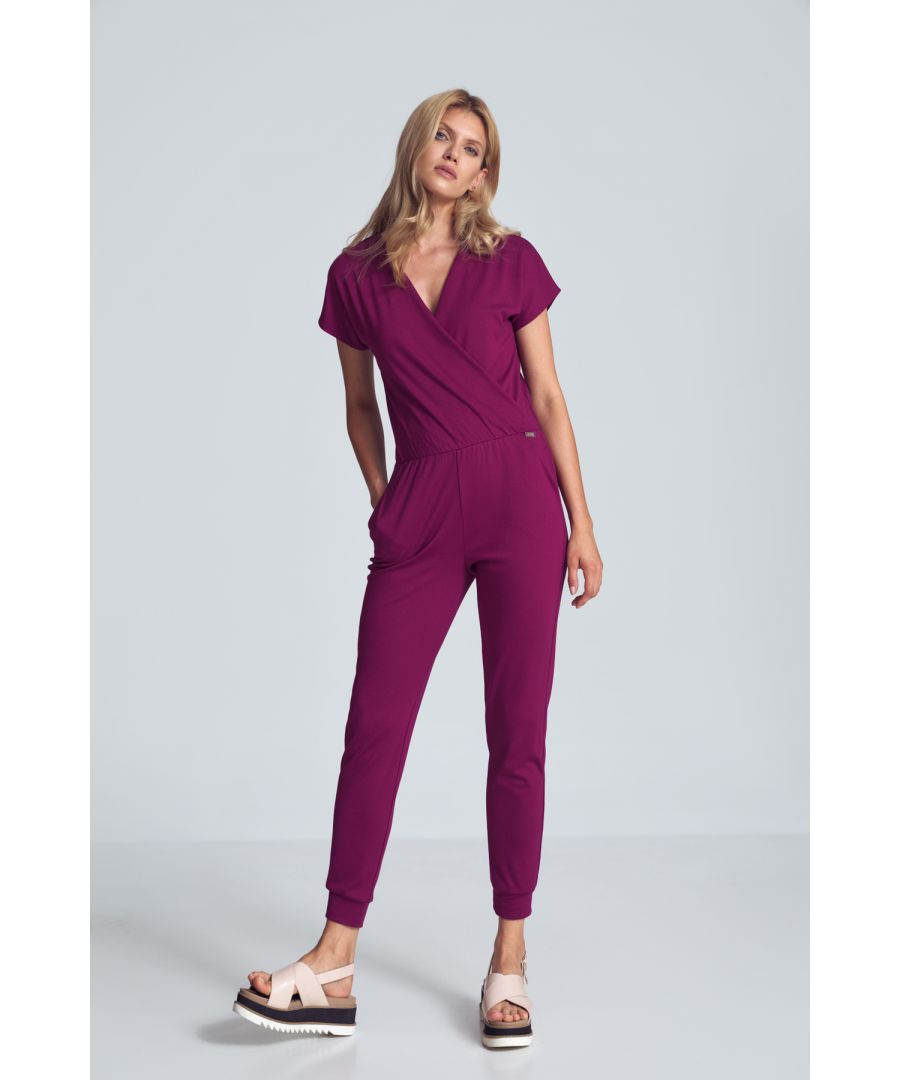 Image for Fuchsia Jumpsuit With Wrap Neckline
