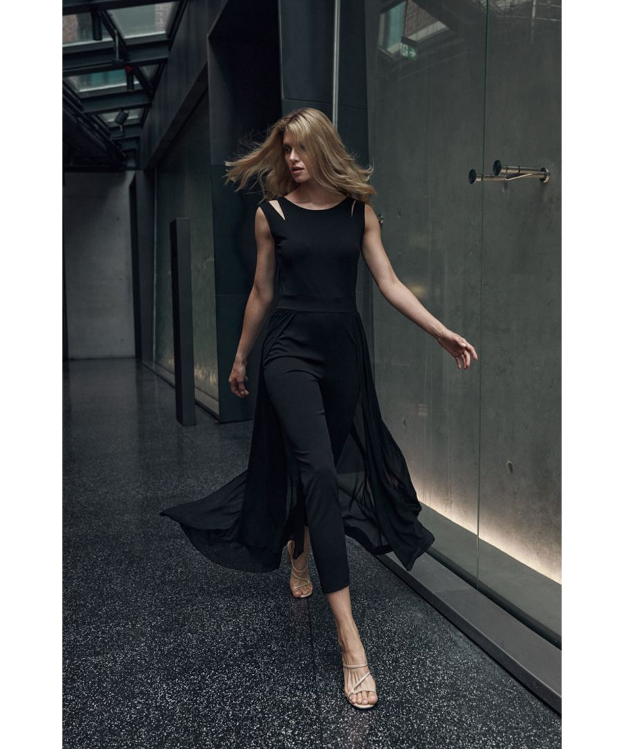 Image for Black Jumpsuit With Chiffon Skirt