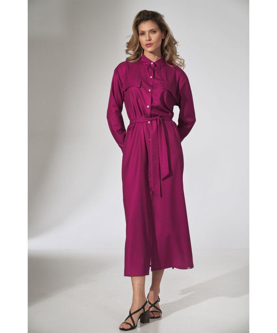 Image for Fuchsia Shirt Dress