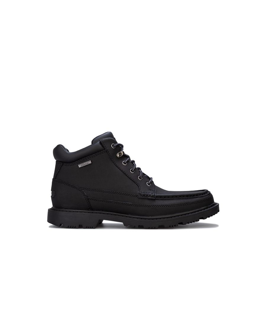 Image for Men's Rockport Redemption Moc Toe Boots in Black