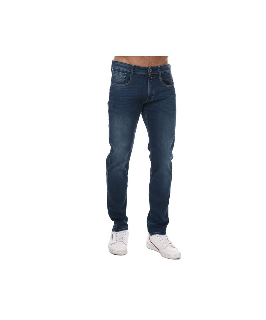 Image for Men's Replay Anbass Slim Fit Stretch Jeans in Denim