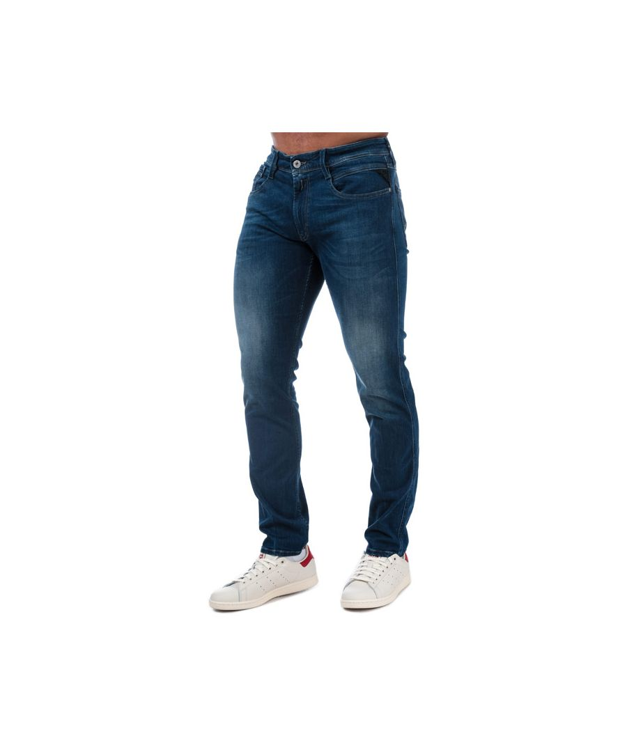 Image for Men's Replay Anbass Slim Fit Jeans in Denim