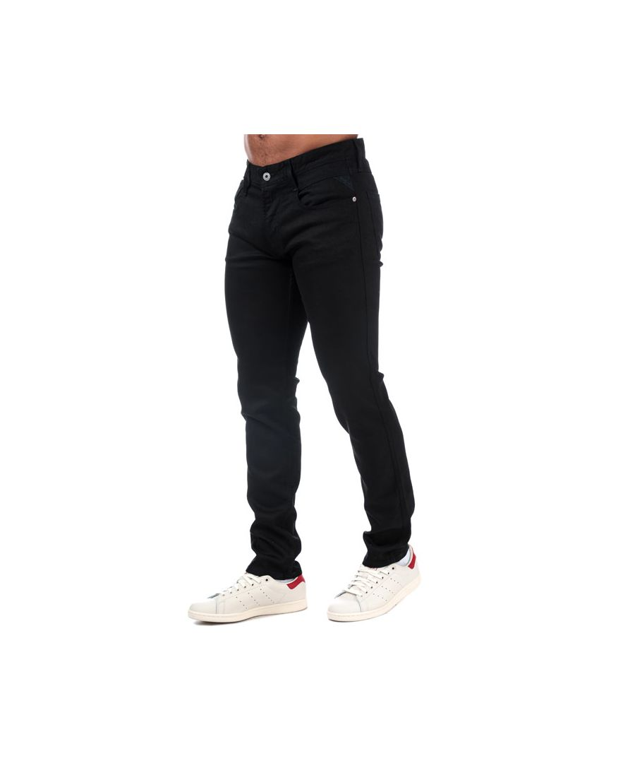 Image for Men's Replay Anbass Slim Fit Jeans in Black