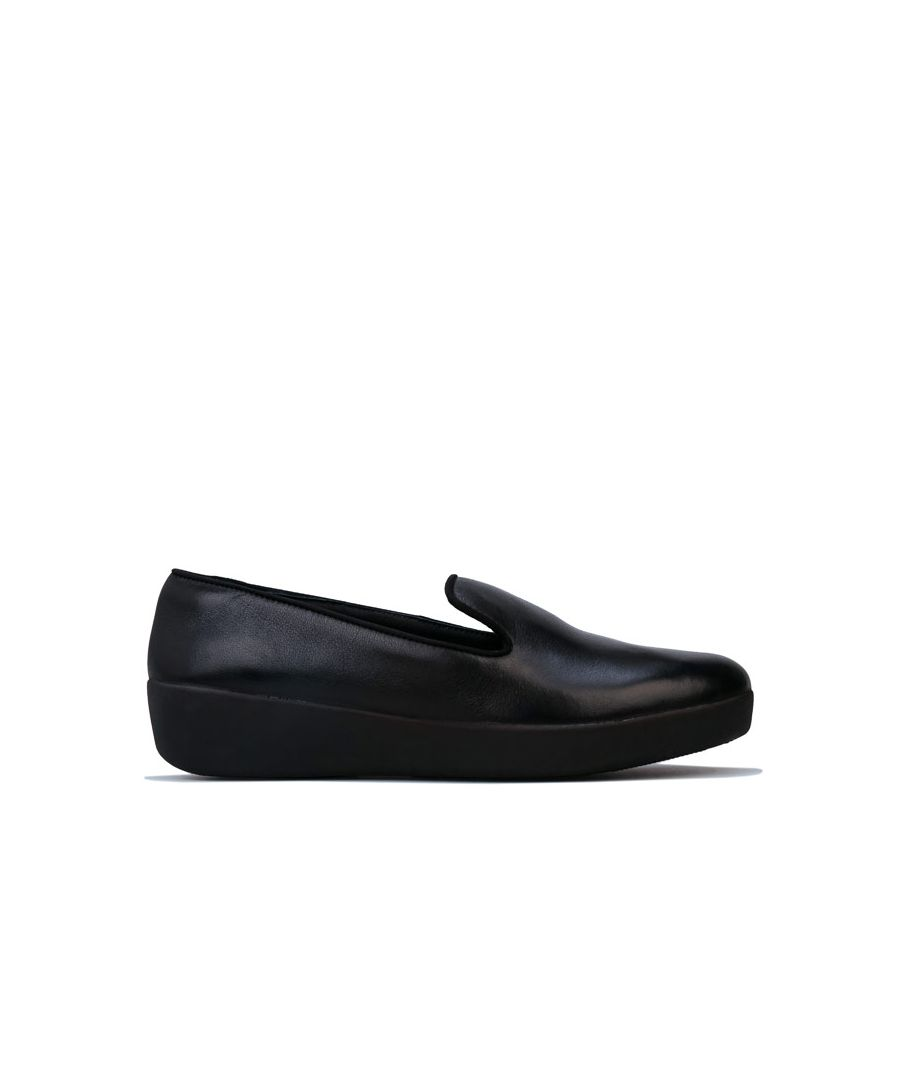 Image for Women's Fit Flop Audrey Smoking Slippers in Black