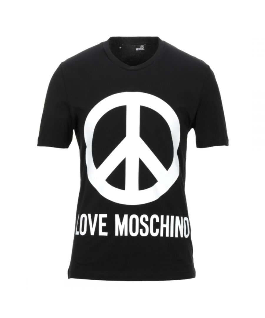 Image for Love Moschino Large Brand Peace Logo Black T-Shirt