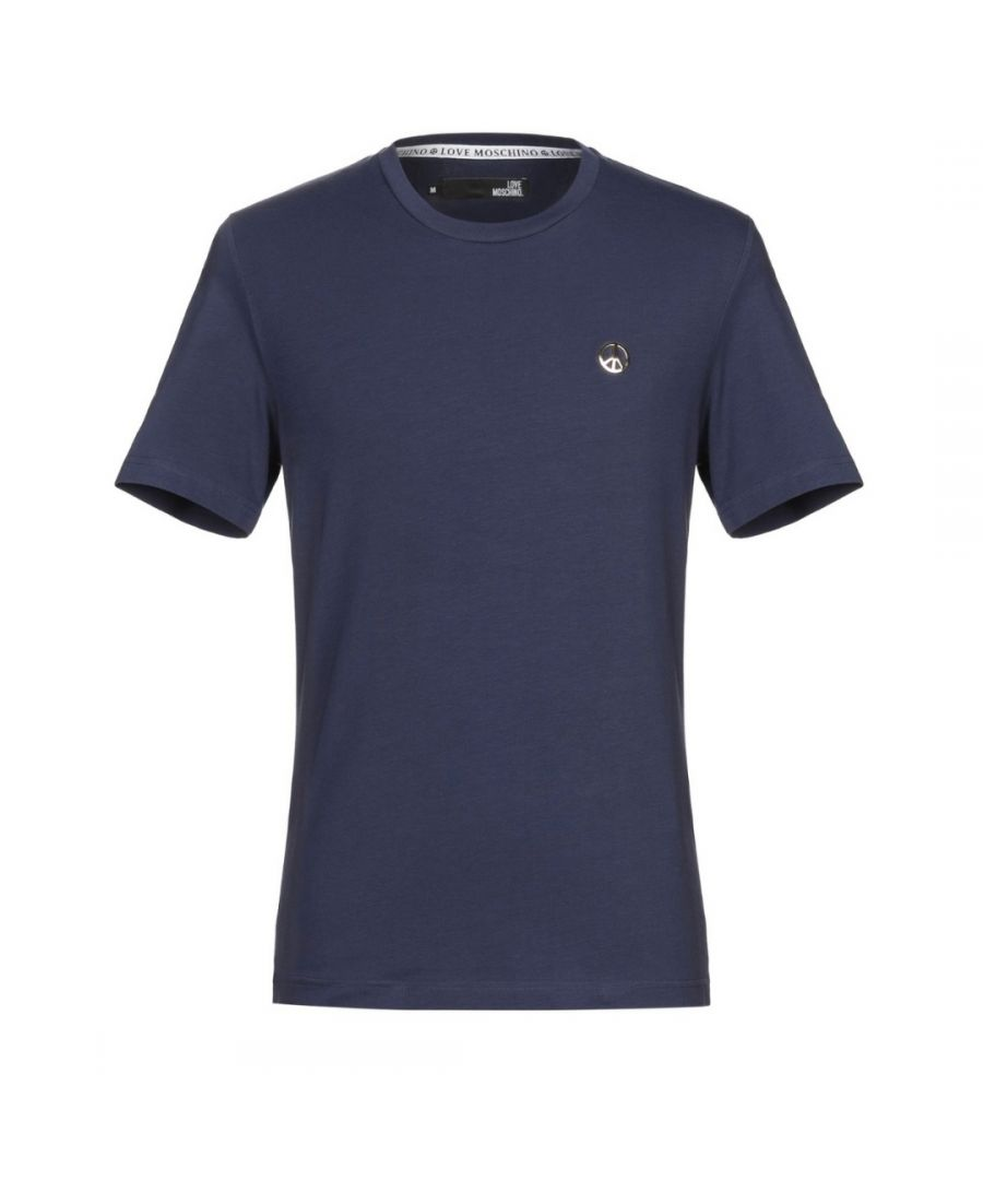 Image for Love Moschino Peace Plaque Navy T-Shirt