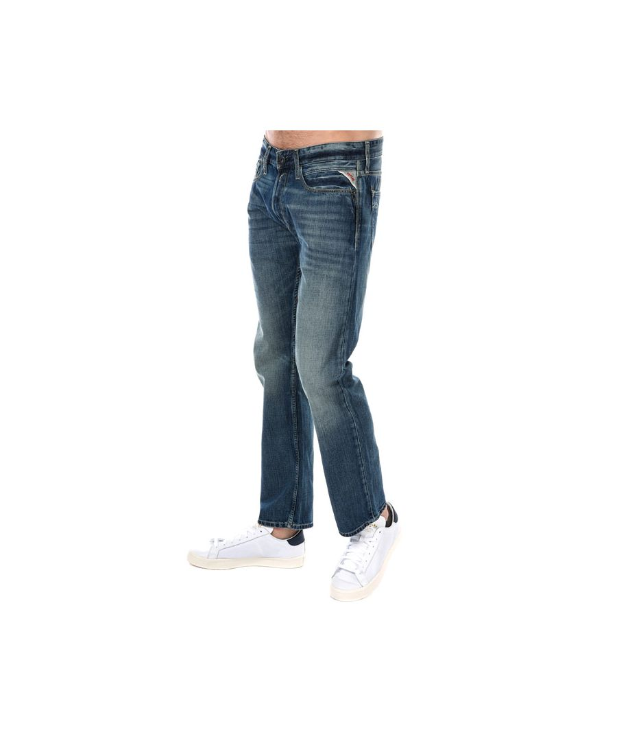 Image for Men's Replay Newbill Comfort Fit Jeans in Light Blue