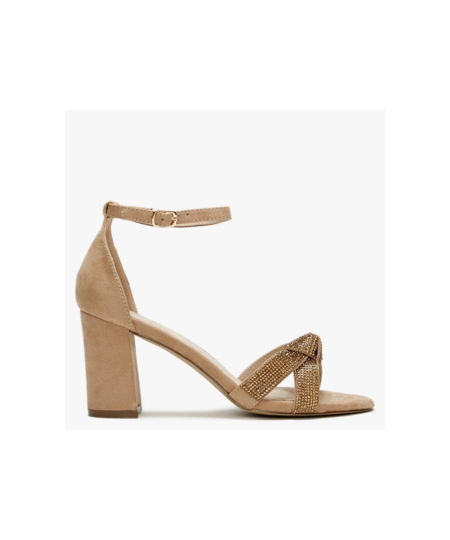 Image for DF By Daniel Mahlia Diamante Bow Sandals