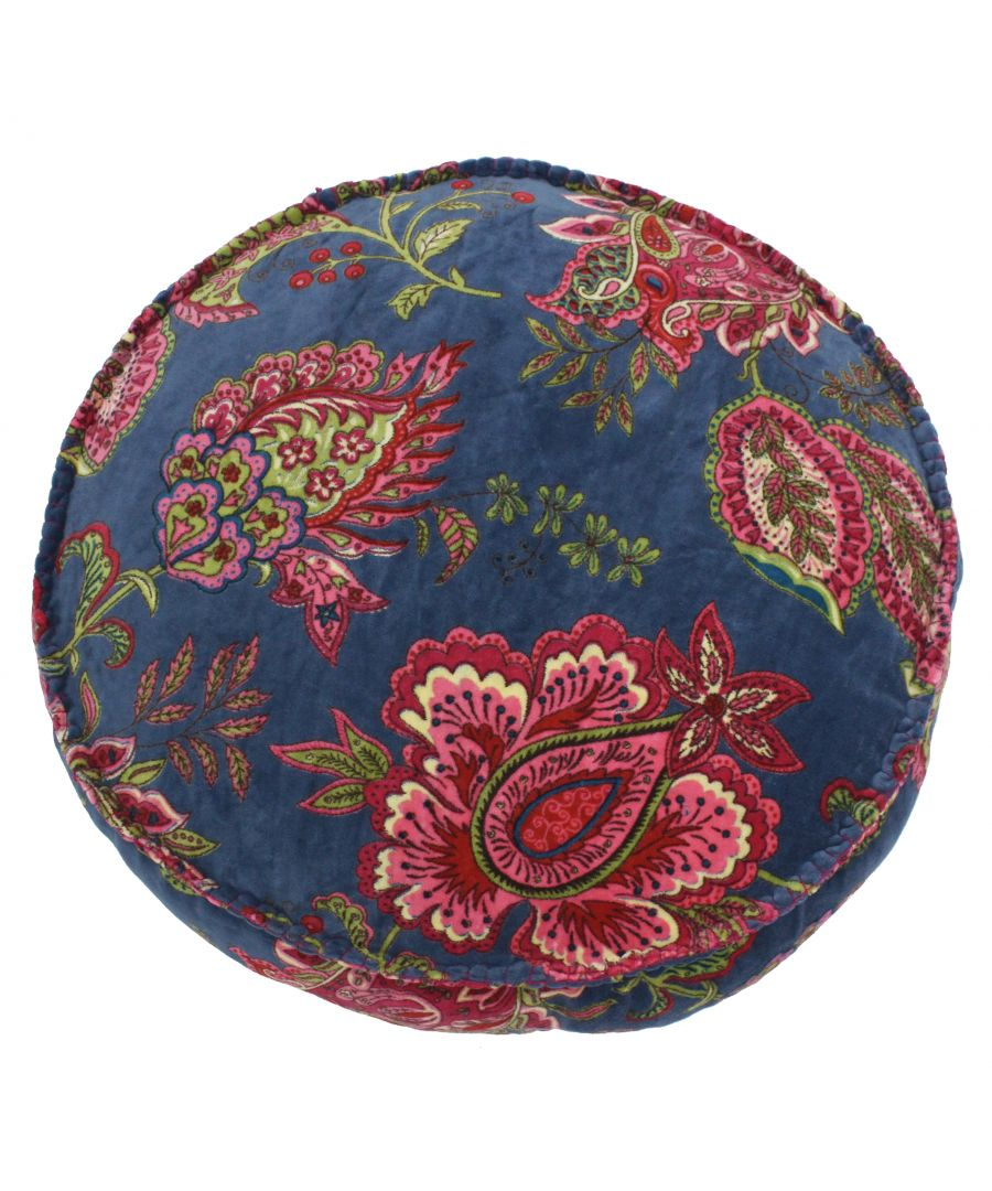 Image for Malisa 50X12 Rd PCushion Smoke Blue
