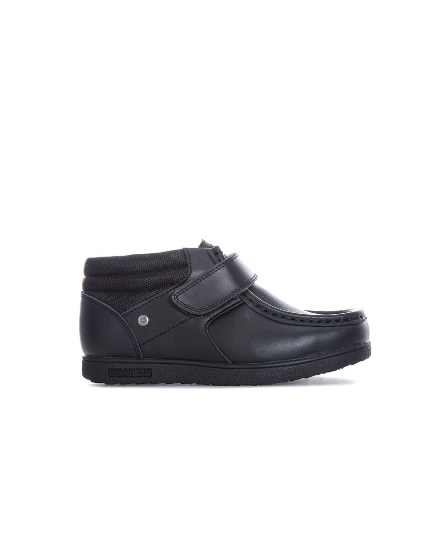 Image for Boy's Deakins Children Marsdon Strap Boot in Black