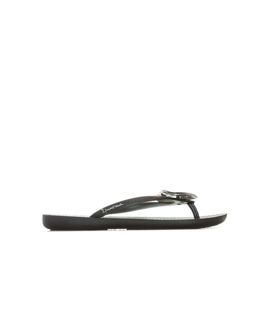 Image for Women's Ipanema Maxi Heart Flip Flops in Black